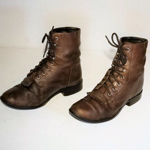 Ariat Roper Boots Brown Leather Size 6.5 / EUR36.5
